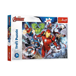 Trefl Puzzle Puzzle - Disney Marvel The Avengers, 200 Teile, Puzzleteile