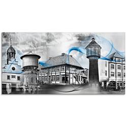 Artland Glasbild Lingen Emsland Collage 01, Gebäude (1 Stück)