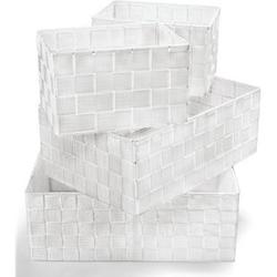 Dekor Ordnungsboxen 4er Set weiß