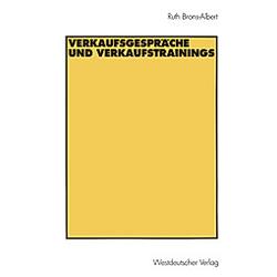 Verkaufsgespräche und Verkaufstrainings. Ruth Brons-Albert  - Buch