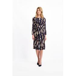 Lavard Dunkelblaues Kleid mit Mustern 85052