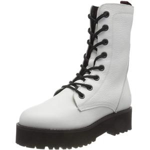 Buffalo Damen MAC Mode-Stiefel, White, 39 EU