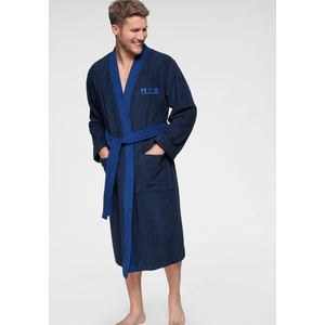 Unisex-Bademantel, blau, Material Baumwolle / Cotton »Hannes«, H.I.S, Unifarben