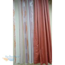 Musterfenster Vorhang Schals Fläche Scheibengardine in weiß beere orange rosa