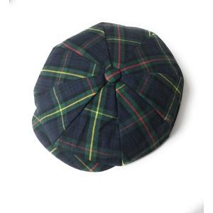 KGM Accessories Herren Schirmmütze mit schottischem Schottenkaro, Größe M, Blau