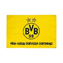 Borussia Dortmund Fahne Balkonfahne BVB, Mein Verein Borussia Dortmund,