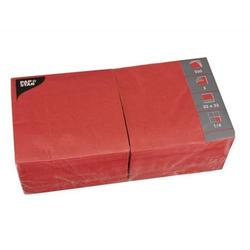 Servietten 33x33cm 3-lagig 1/4-Falz VE=250 Stück rot