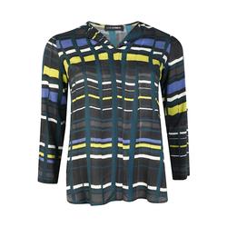 Bluse mit Allover-Muster Doris Streich petrol