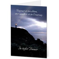 LUMA Trauerkarte Leuchtturm DIN B6