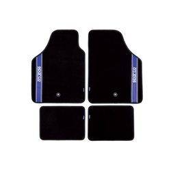 Fußmatte, dynamic24, Sparco Automattenset 4tlg. Fußmatten Teppich Matten Set Gummimatten Autoteppich schwarz
