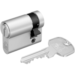 BASI Zylinderschloss 10/35 mm, AS Profil-Halbzylinder silberfarben