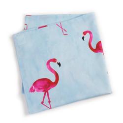 EXPERIENCE Tischdecke Tischdecke 80x80 cm Trend Flamingo Tischtuch Blau Pink Mitteldecke (1-tlg)