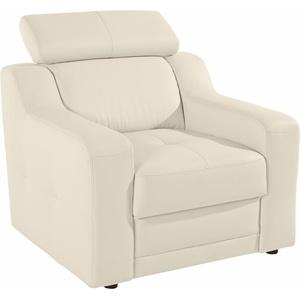 exxpo - sofa fashion Sessel, mit Kopf- bzw. Rückenteilverstellung weiß