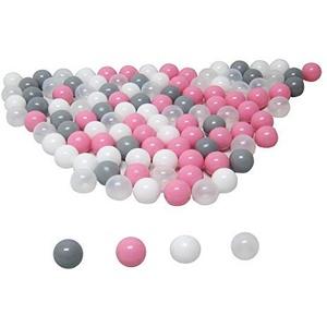 koenig-tom Bällebad24 - Bällebad Bälle, 6cm Ø, Plastebälle, Babybälle, Bällchenbad, Bälle für Bällebad (6cm - 100 Bälle, Rosa Mix)