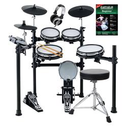 XDrum DD-530 Mesh Heads E-Drum SET mit Hocker, Kopfhörer und Schule