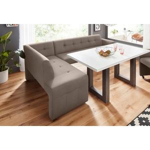 exxpo - sofa fashion Eckbank Barista, Frei im Raum stellbar grau