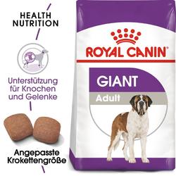 ROYAL CANIN GIANT Adult Trockenfutter für sehr große Hunde 15 kg + 3 kg gratis