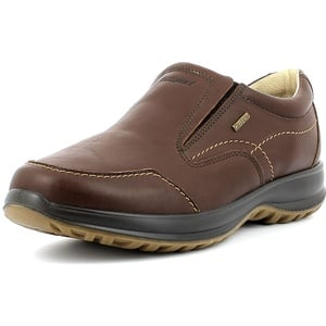 Grisport Leather Moc,Männer,Herren_Halbschuh,elegant, wasserdicht, bequem, hochwertiges Leder, Active-System, hoher, rutschfest,Braun, 46