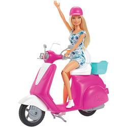 Barbie - Pink Passport: Puppe mit Scooter