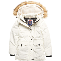 Superdry - Everest Parka W Ecru - Jacken - Größe: L
