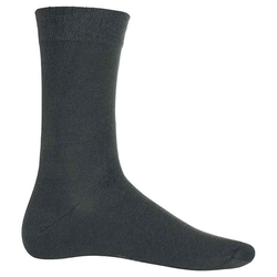 Baumwollsocken | Kariban dark grey 39/42
