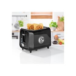 Schalke 04 Toaster, mit Soundfunktion und Logo schwarz/silber