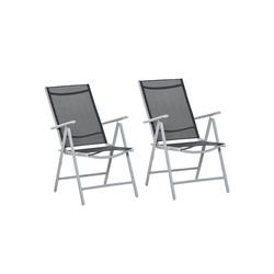 Outsunny Gartenstuhl 2er Set Gartenstühle klappbar