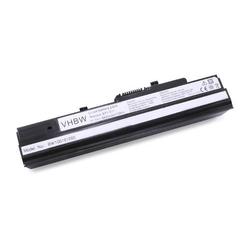 vhbw AKKU passend für LG X110 X-110 NETBOOK NOTEBOOK LAPTOP SUBNOTEBOOK 6600mAh 11.1V schwarz black