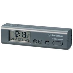 LUFTHANSA Tischuhr LUFTHANSA Weltzeitwecker mit Thermometer und Tasch