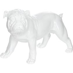 Dekofigur »Bulldoge«, Dekofiguren, 46366355-0 weiß weiß