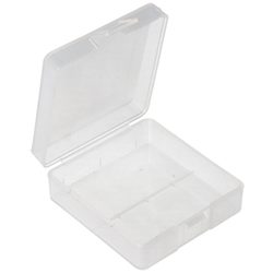 Aufbewahrungsbox für 1x bis 2x 9V Block 6LR61/AM-6 6F22 Akkus oder Batterien
