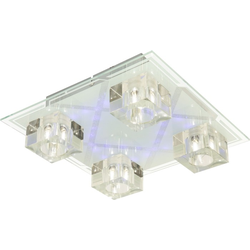 Deckenleuchte Deckenlampe Chrom Glas Kristall Topas Esto 75000-4