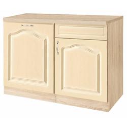 wiho Küchen Spülenschrank 110 cm breit, inkl. Tür für Geschirrspüler gelb