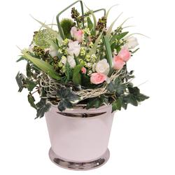I.GE.A. Kunstpflanze »Mini Röschen« (1 Stück), Kunstpflanzen, 883404-0 rosa 20x16x28 cm rosa