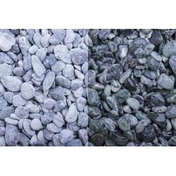 Marmor Kristall Grün getrommelt, 7-15, 250 kg Big Bag