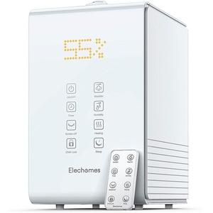 Elechomes Ultraschall Luftbefeuchter, 5.5L Top-Füllung Raumbefeuchter Warm/Kalt Dampf mit Fernbedienung und Feuchtmonitor, Timer 1-12H, Aroma-Diffusor für Baby Schlafzimmer bis 40-70m2