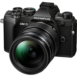 Olympus OM-D E-M5 Mark III Systemkamera (M.Zuiko Digital ED 12-40mm F2.8 PRO, 20,4 MP, Bluetooth, NFC) schwarz