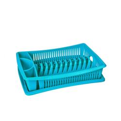 Wellgro Geschirrständer Abtropfgestell - Abtropfgitter - Geschirr Abtropfkorb - Abtropfständer - Abtropfschale - Geschirrabtropfständer - Geschirrabtropfkorb blau