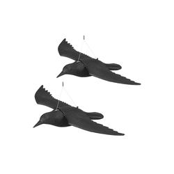relaxdays Gartenfigur 2 x Taubenschreck Krähe fliegend