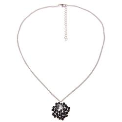 leslii Modeschmuck-Kette mit zartem Draht silberfarben Damen Ketten Anhänger Halsketten Schmuck Modeschmuck (nicht Echtschmuck)