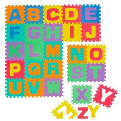 LittleTom Puzzlematte Baby Puzzlematte ab 0 Kinder ABC Spielmatte, 26 Puzzleteile, ABC Krabbelmatte Alphabet