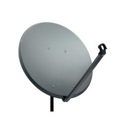 PremiumX PXA100 Satellitenschüssel 100cm ALU Anthrazit Satellitenantenne SAT Spiegel mit LNB Tragarm und Masthalterung SAT-Antenne