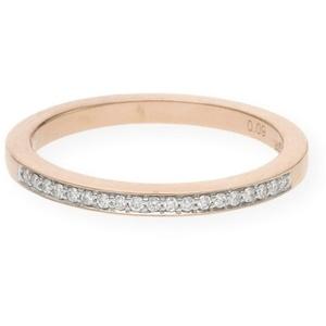 JuwelmaLux Verlobungsring Verlobungsring Gold Damen mit Diamant(en) (1-tlg), Rotgold 585/000, inkl. Schmuckschachtel 56
