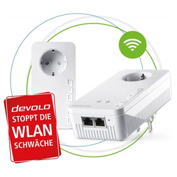 DEVOLO Magic 2 WiFi next Starter Kit Powerline-Adapter 2400 MBit/s Netzwerk-Adapter