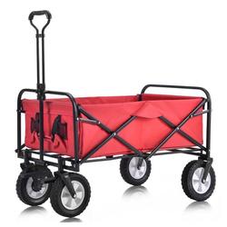 TOPMELON Sackkarre, 80 kg Last,zusammenklappbar,höhenverstellbare Griffe