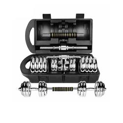 breluxx fitness Hantel-Set Hantelset 20kg Premium Chrom Kurzhantel mit Connector, inkl. Koffer
