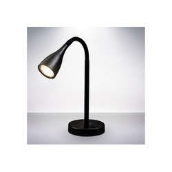 B.K.Licht LED Tischleuchte, LED Tischlampe flexibel Schwanenhals Schreibtischleuchte Kippschalter inkl. 5W 400lm