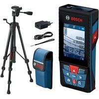 Bosch Professional Laser-Entfernungsmesser GLM 120 C mit Baustativ BT 150