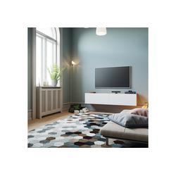 Yurupa Wohnwand TV Board hängend Lowboard Hängeschrank Hängeboard Wohnwand wei�