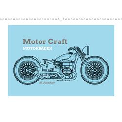 Motor Craft Motorräder (Wandkalender 2021 DIN A3 quer)